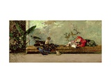 The Painter's Children in the Japanese Salon Metalldrucke von Mariano Fortuny y Marsal
