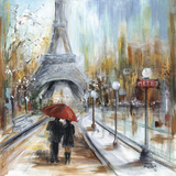 Romantic Paris Poster by Marilyn Dunlap