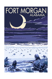 Fort Morgan, Alabama - Sea Turtles Hatching Schilderij van  Lantern Press