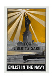 US Navy Vintage Poster - Enlist in the Navy Poster by  Lantern Press