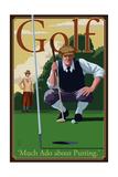 Golf - Much Ado about Putting Art par  Lantern Press
