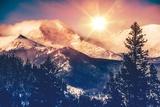 Colorado Mountains Vista Reproduction photographique Premium par  duallogic
