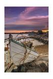 Fishing Boat on Shore Stampa di  Lantern Press