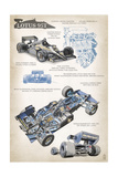 Lotus 95T Technical Affiches par  Lantern Press
