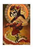 New Mexico - Day of the Dead Marionettes Prints by  Lantern Press