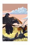 Vautours et condors Art par  Lantern Press