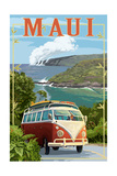 Maui, Hawaii Cruise Premium Giclee-trykk av  Lantern Press