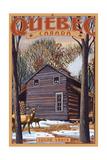 Quebec, Canada - Sugar Shack Poster von  Lantern Press