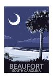 Beaufort, South Carolina - Palmetto Moon Poster von  Lantern Press