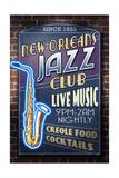 New Orleans, Louisiana - Jazz Club Pôsters por  Lantern Press
