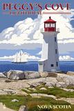 Peggy's Cove Lighthouse - Nova Scotia Posters by  Lantern Press