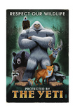 The Yeti and Wildlife Art by  Lantern Press