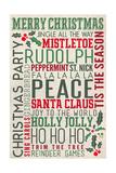 Christmas Typography Poster von  Lantern Press