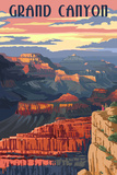 Grand Canyon National Park - Sunset View Poster von  Lantern Press