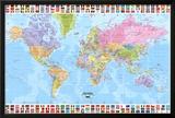 Mapa-múndi - Político Pôsters