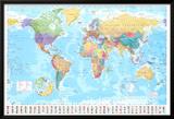世界地図 高品質プリント