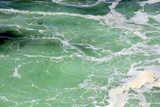 Green Sea with Waves and Foam Photographic Print by  meunierd