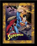 Superman Astroid 3D Framed Art Prints