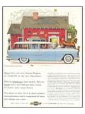 GM Chevrolet Station Wagons Poster