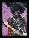 Jimi Hendrix 3D Framed Art Plakater af Stephen Fishwick