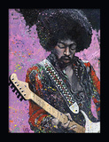 Jimi Hendrix 3D Framed Art Kunstdruck von Stephen Fishwick