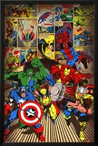 Marvel-Here Come the Heroes Prints