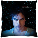 Vampire Diaries - Damon Eyes Throw Pillow Throw Pillow