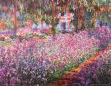 The Artist's Garden At Giverny, c.1900 Plakat av Claude Monet