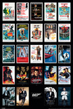 James Bond- 24 Movies Poster