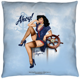 Bettie Page - Ahoy Throw Pillow Throw Pillow