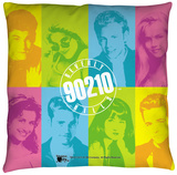 Beverly Hills 90210 - Color Blocks Throw Pillow Throw Pillow