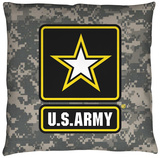 Army - Patch Throw Pillow Throw Pillow