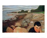 Melancholy, 1891 Giclee-trykk av Edvard Munch