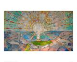 Le soleil Reproduction procédé giclée par Edvard Munch