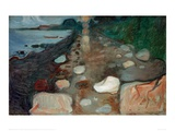 Moonlight on the Beach, 1892 Giclee Print by Edvard Munch