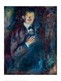 Self Portrait with Cigarette, 1895 Reproduction procédé giclée par Edvard Munch