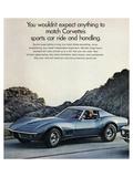 GM Corvette Sports Car Ride Affischer