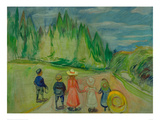 Enchanted Forest, 1907 Giclee-trykk av Edvard Munch