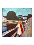 Four Girls on the Bridge, 1905 Reproduction procédé giclée par Edvard Munch