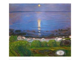 Summer Night on the Beach Giclee-trykk av Edvard Munch