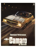 GM Chevy Comaro Performance Poster