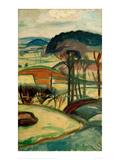 Landscape, 1918 Giclee Print by Edvard Munch