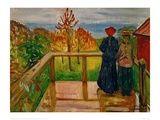 Rain, 1902 Giclee Print by Edvard Munch
