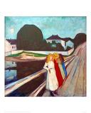 Four Girls on the Bridge, 1905 Giclée-tryk af Edvard Munch