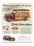 Jeep Station Wagon - Discover Poster