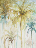Watercolor Palms in Blue II Plakat af Patricia Pinto