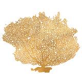 Golden Sea Fan I (gold foil) Plakater af Jairo Rodriguez