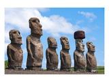 Moais Tongariki Easter Island Pósters