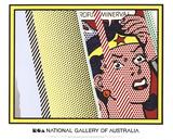 Reflections on Minerva Plakat af Roy Lichtenstein