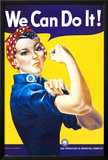 We Can Do It! (Rosie the Riveter) Posters by J. Howard Miller